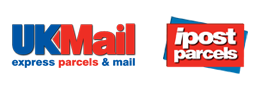 UK Mail and ipostparcels logos
